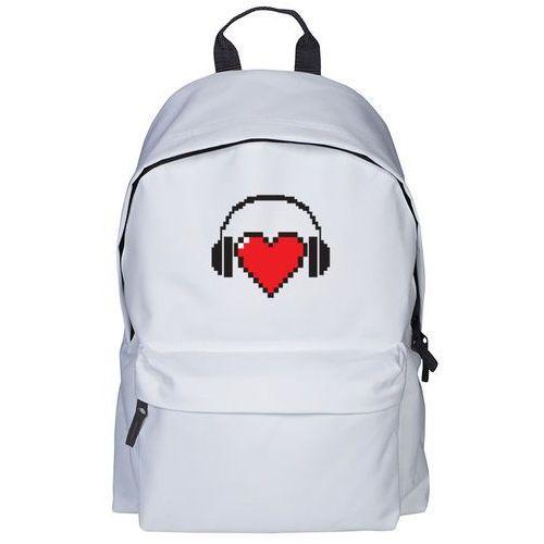 Plecak heart with headphones marki Megakoszulki