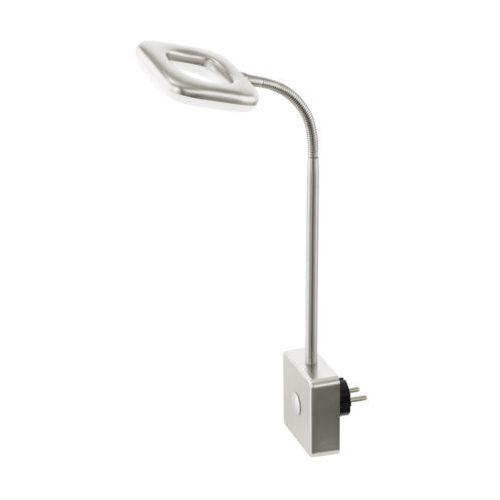 Lampa litago 97015 lampka do gniazdka 1x4w led nikiel mat / biała marki Eglo