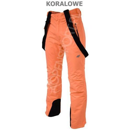 4f Damskie spodnie narciarskie  t4z16 spdn001 koral xl