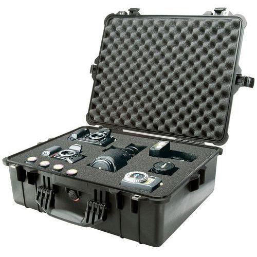 Peli Box 1600 pudełko z tworzywa sztucznego, z wkładką z pianki, czarny