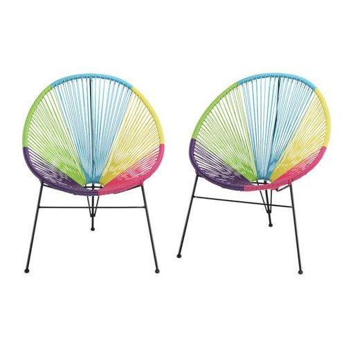 Vente-unique Zestaw 2 krzeseł ogrodowych alios ii – włókno technorattanowe – wielokolorowe