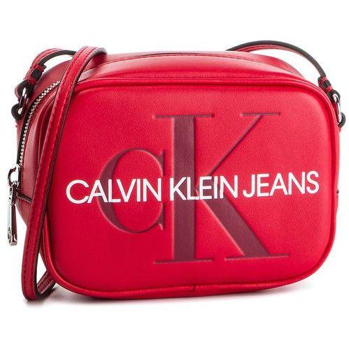 Torebka CALVIN KLEIN JEANS - Sculpted Monogram Camera Bag K60K605524 649, kolor czerwony