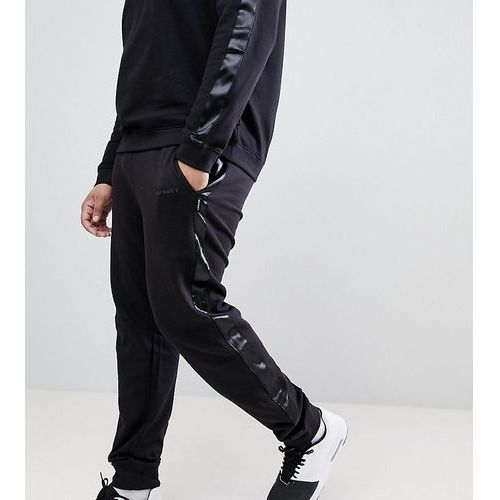 D-struct plus jogger with satin leg stripe - black