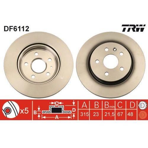 TARCZA HAM TRW DF6112 OPEL INSIGNIA 1.8 140KM, 2.0T 220KM, 2.0CDTI 131KM 08-