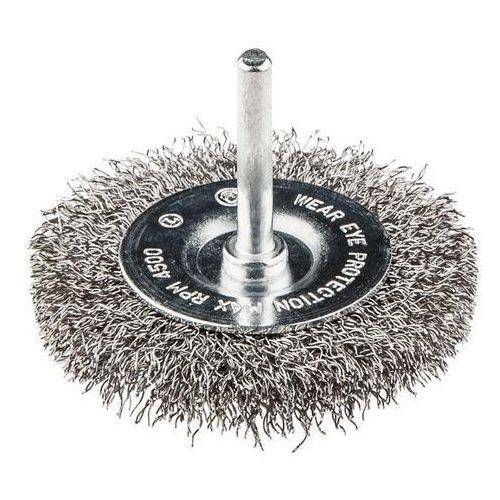 GRAPHITE 57H602 Szczotka druciana tarczowa z trzpieniem 75 mm, INOX (5902062576026)