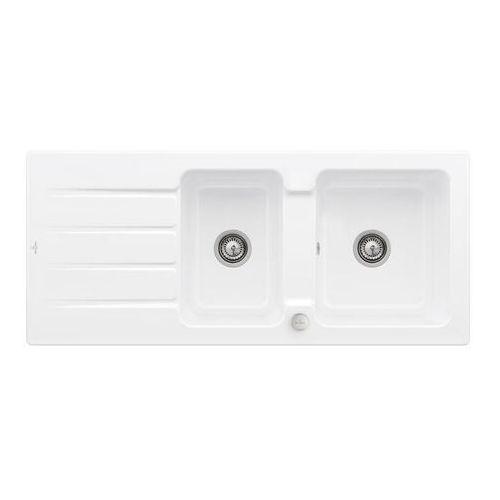 Villeroy & boch architectura 80 stone white zlew ceramiczny - rw stone white (biały matowy) \ automatyczny (4051202981525)
