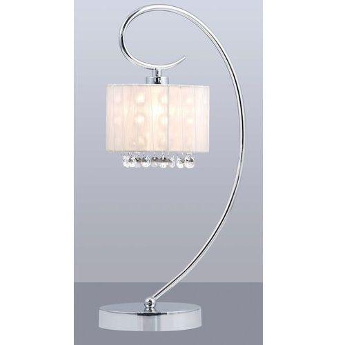 Lampa stołowa span mtm1583/1 wh 1x40w e14 chrom/kryształ/biała marki Italux