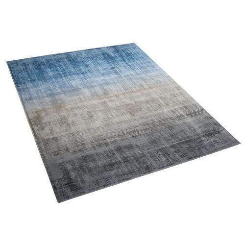 Dywan szaro-niebieski 160 x 230 cm krótkowłosy ercis marki Beliani