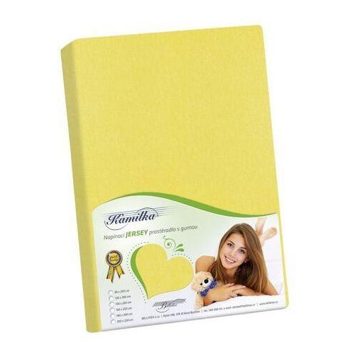 Bellatex Prześcieradło jersey Kamilka żółty, 120 x 200 cm (8592325025742)