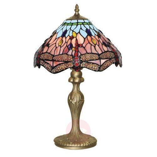 Czarująca lampa stołowa w stylu Tiffany DRAGONFLY (5053423016542)