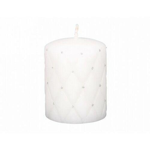 Świeczka dekoracyjna Florencja biały, 10 cm, 678708