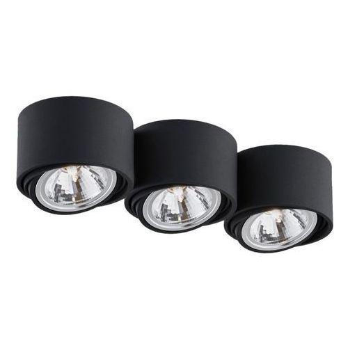 Kaspa - Oprawa stropowa natynkowa potrójna - Lumos - czarna - czarny