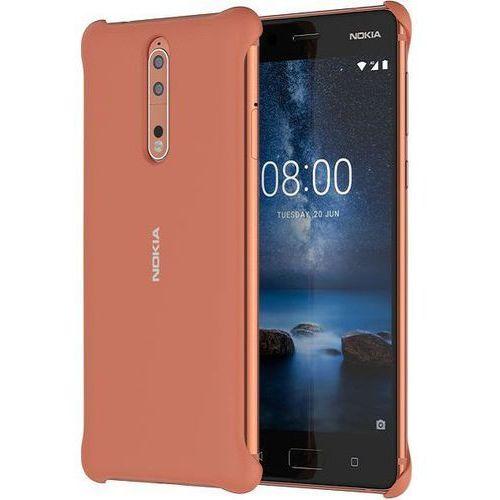 Nokia Etui  soft touch case cc-801 do nokia 8 miedziany