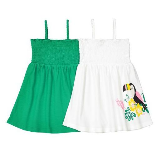 2 sukienki bez rękawów, oeko tex 1 miesiąc - 3 latka marki La redoute collections