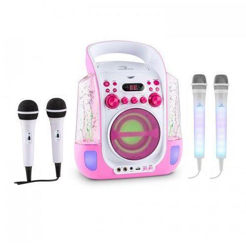 Kara Liquida zestaw do karaoke różowy + Kara Dazzl zestaw mikrofonów LED