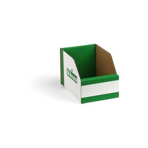 Skrzynki regałowe z kartonu, składane, opak. 150 szt., dł. x szer. x wys. 150x10 marki K bins limited
