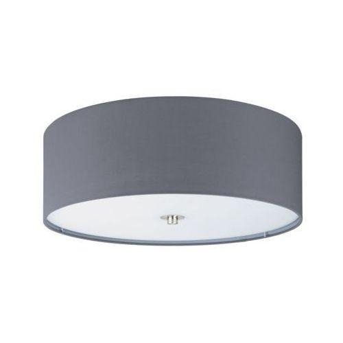 Eglo Plafon lampa sufitowa pasteri 94921 okrągła oprawa abażurowa szara