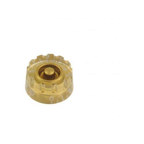 Boston KG-112 gałka potencjometru Speed Knob perforowana, złota