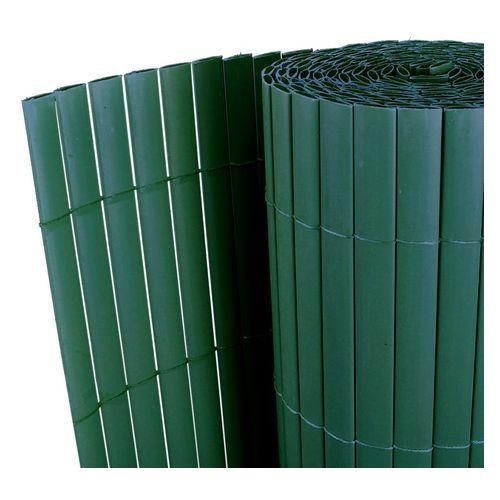 Vidaxl dwustronne ogrodzenie pcv zielone 300 x 200 cm listwa 12 mm