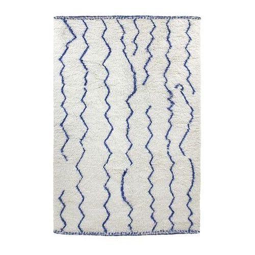 Hkliving dywan wełniany berberyjski kobaltowy (180x280) ttk3033