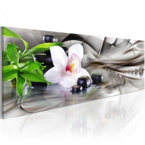 Obraz - Kompozycja Zen: bambus, orchidea i kamienie, A0-N3646 (7809640)