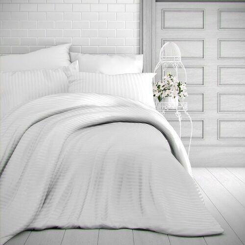 Kvalitex pościel satynowa stripe biały, 140 x 200 cm, 70 x 90 cm, 140 x 200 cm, 70 x 90 cm