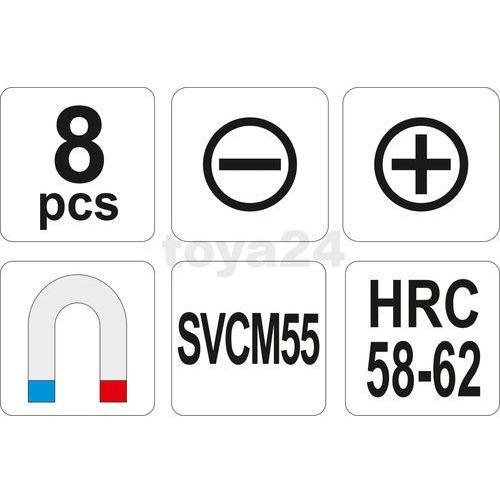 Zestaw wkrętaków svcm55 8 szt / YT-2670 / YATO - ZYSKAJ RABAT 30 ZŁ (5906083926709)