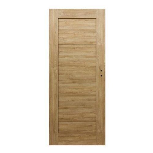 Drzwi pełne Borgeno 60 lewe amber
