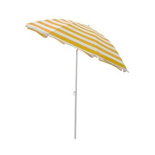 Jumi Parasol plażowy 180 cm żółto-biały w paski (5900410433847)