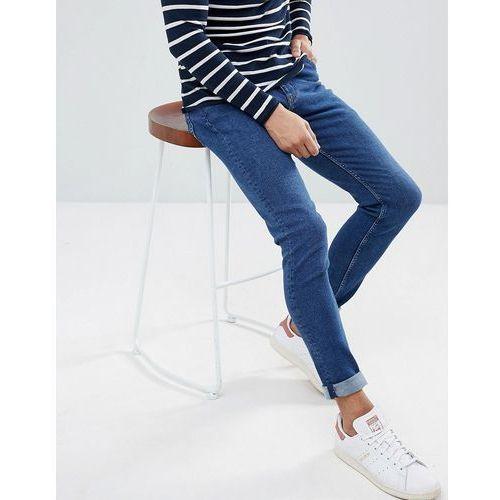 form powell blue super skinny jeans - blue marki Weekday