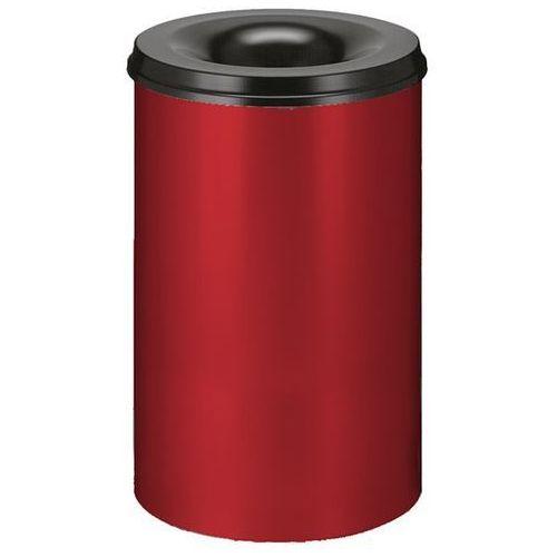 Kosz na papier, samogaszący, poj. 110 l, korpus czerwony / głowica gasząca czarn marki Vepa bins
