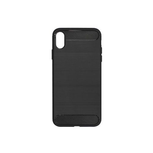 Apple iPhone XS Max - etui na telefon Forcell Carbon - czarny