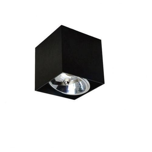 Zuma line Lampa sufitowa spot box sl1 czarna bzl, 90432