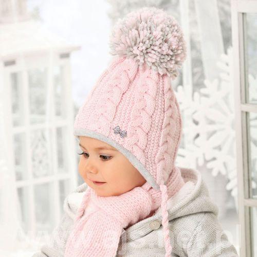 Komplet 38-406 czapka+szalik rozmiar: uniwersalny, kolor: wielokolorowy, ajs marki Ajs