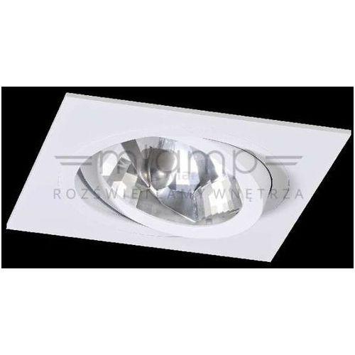 Oczka lampa sufitowa faro i bianco metalowa oprawa podtynkowa wpust kwadratowy biały marki Orlicki design
