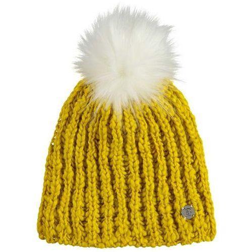 czapka zimowa BENCH - Turn Up Bobble Beanie Bright Yellow (YW099) rozmiar: OS, kolor żółty