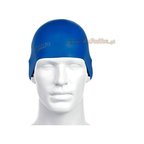 Speedo Czepek moulded silicone cap neon blue (5051746920683)