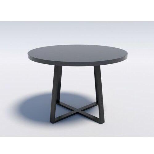 Industrialny stół okrągły ring x 110 wytrawny szary kamień marki Reqube