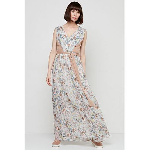 Sukienka maxi w drobne kwiaty - Patrizia Aryton, 1 rozmiar
