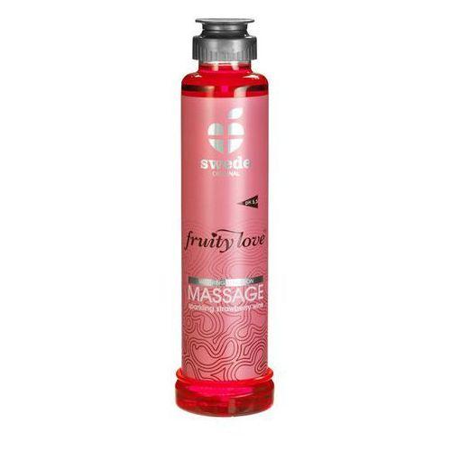 Owocowy olejek do masażu - Musujące wino truskawkowe 200 ml