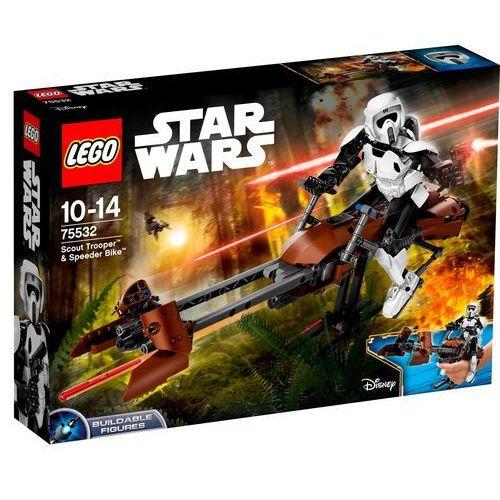 75532 ZWIADOWCA SZTURMOWCÓW I JEGO ŚMIGACZ (Scout Trooper & Speeder Bike) KLOCKI LEGO STAR WARS rabat 2%