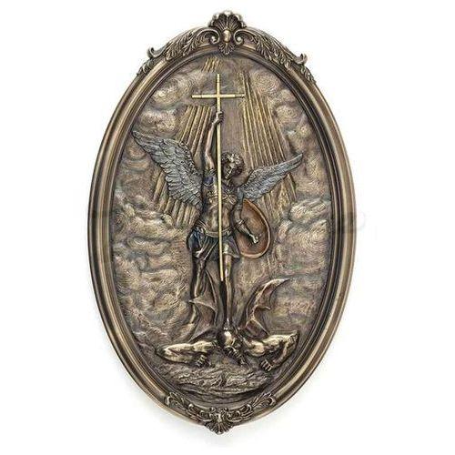 Ikona św michał z krzyżem wu77390a4 marki Veronese