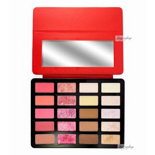 Freedom  - pro artist pad - backstage - zestaw 20 produktów do makijażu twarzy - red