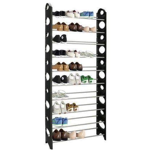 Springos Regał na buty z metalowymi 10 półkami szafka czarno-szara