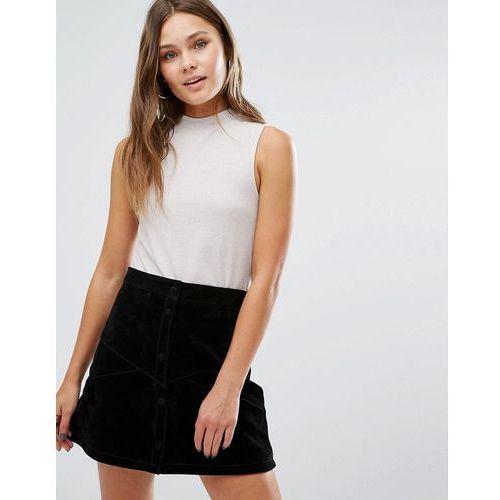 sleeveless high neck top - pink, New look