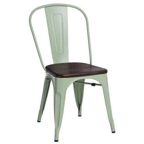 Krzesło Paris Wood zielone sosna szczot. MODERN HOUSE bogata chata, 94424