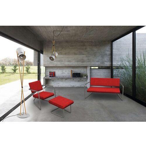 Lonc Steeler, fotel Dinamica Classica, czerwony, rama srebrna, indoor P 055 1023 (8719747653371)