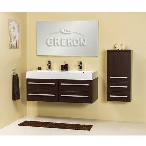 Gante Szafka łazienkowa z umywalką 120/50/4/ufks fokus wenge mat