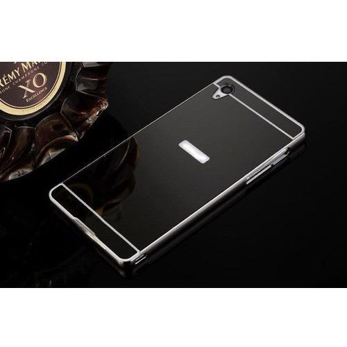 Mirror Bumper Metal Case Czarny | Etui dla Sony Xperia M5 - Czarny