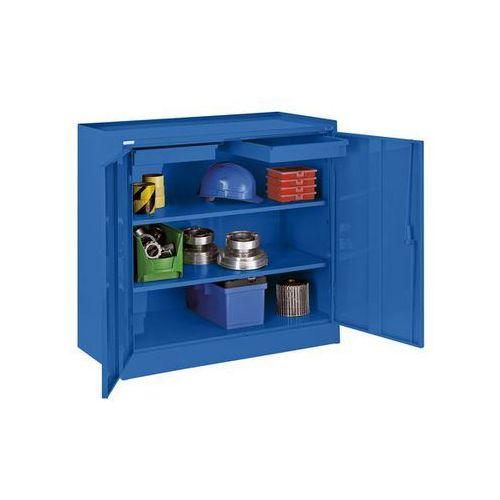 Quipo Szafa na narzędzia,z 2 szufladami, 2 półkami na całej szerokości